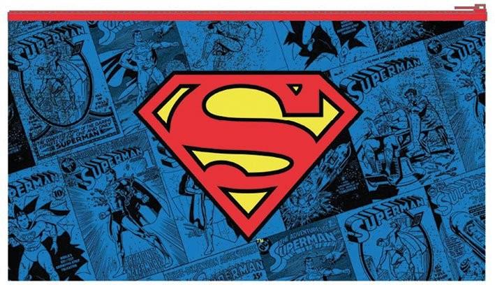 Stationery DC Comics Flat Pencil Case - Superman - Logo