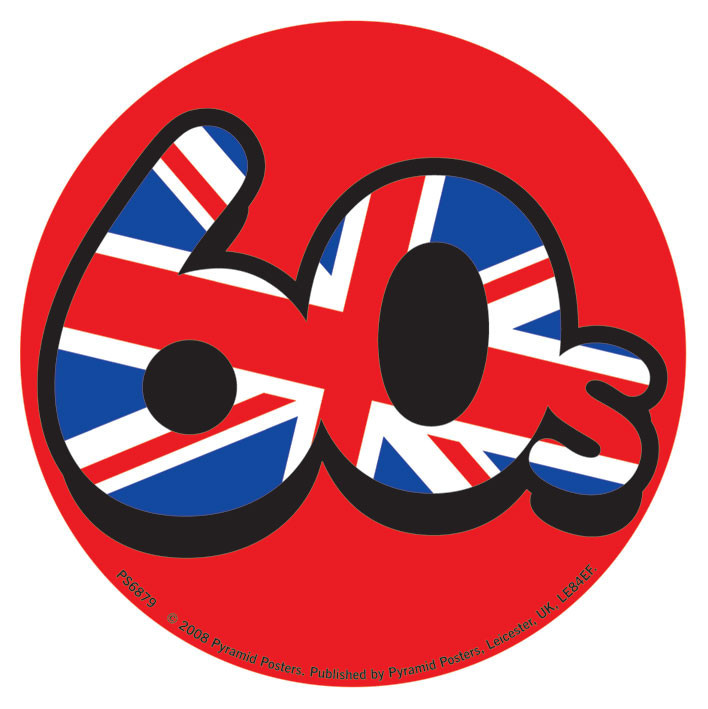 60'S UNION JACK Sticker