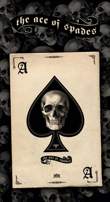 ACE OF SPADES - skull Sticker