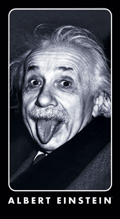 ALBERT EINSTEIN - tongue Sticker