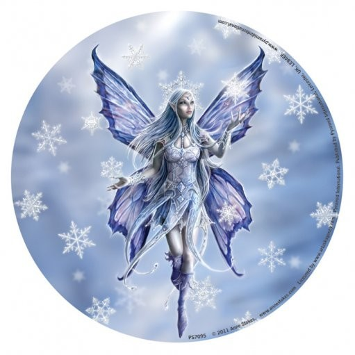 ANNE STOKES - snow fairy Sticker
