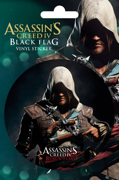 Assassin S Creed 4 Black Flag Edward Sticker Sold At Europosters