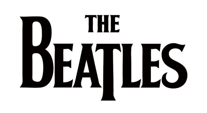 BEATLES - black logo Sticker