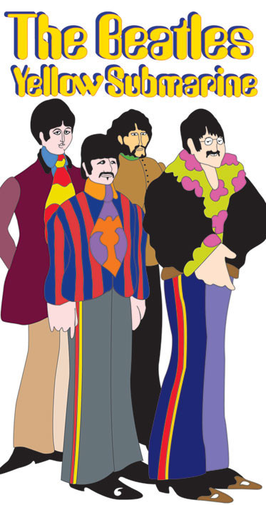 BEATLES - sub band Sticker