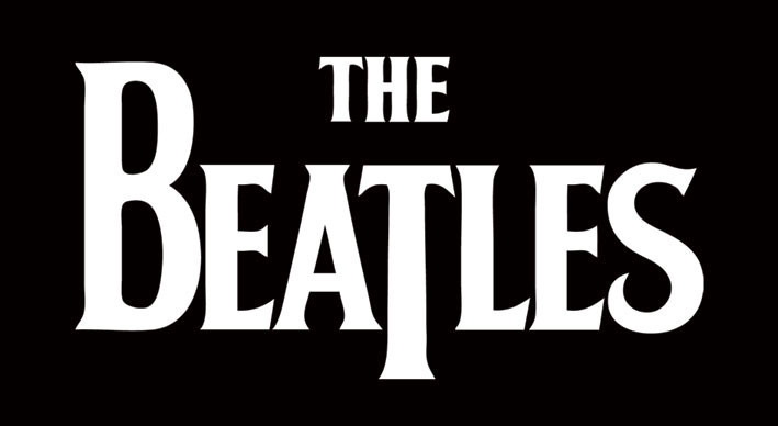 BEATLES - white logo Sticker