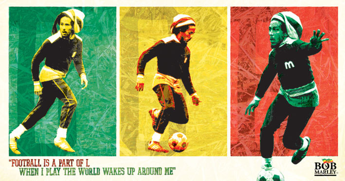 BOB MARLEY - football Sticker