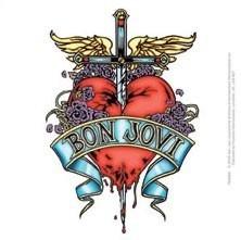 Bon Jovi Heart Amp Dagger Sticker Sold At Europosters
