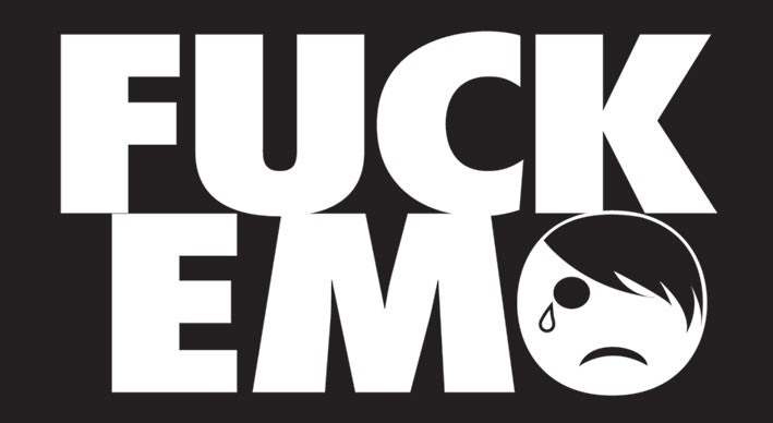 FUCK EMO Sticker