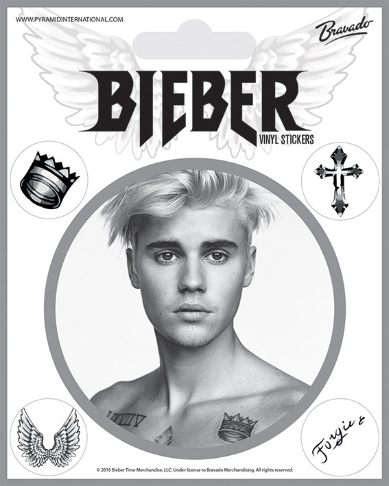 Justin Bieber - Bieber Black and White Sticker