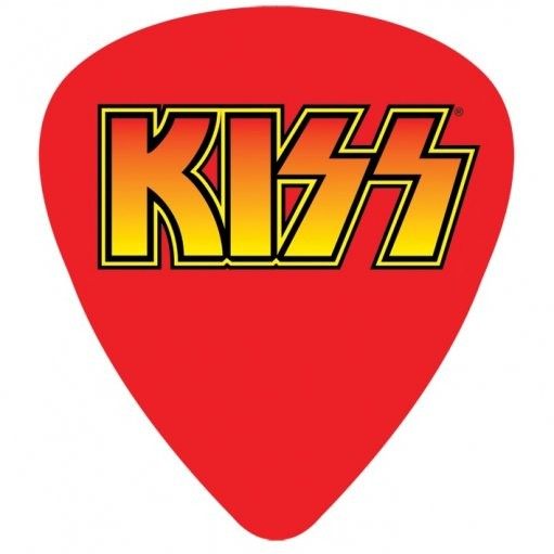 Kiss logo sticker