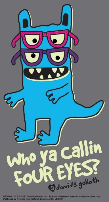 MONSTER MASH - who ya callin four eyes? Sticker