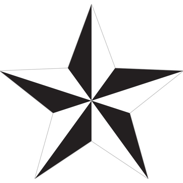 Nautical star white sticker