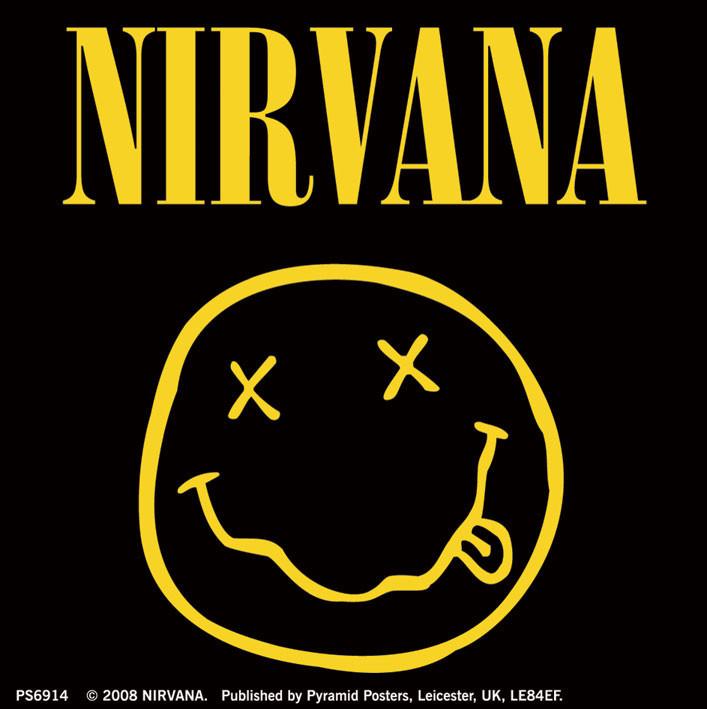 NIRVANA - smiley logo Sticker
