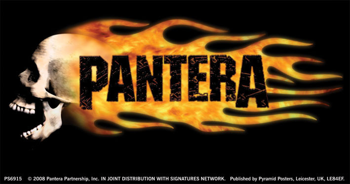 PANTERA - flaming skull Sticker