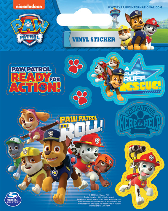 Paw Patrol On A Roll Sticker Sold At Ukposters