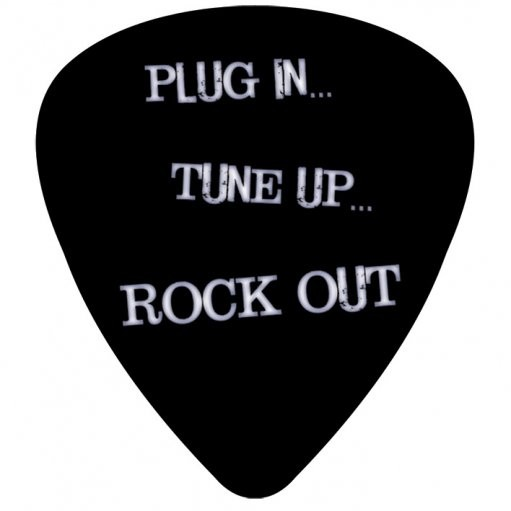 Plug in tune up rock out sticker sold at abposters