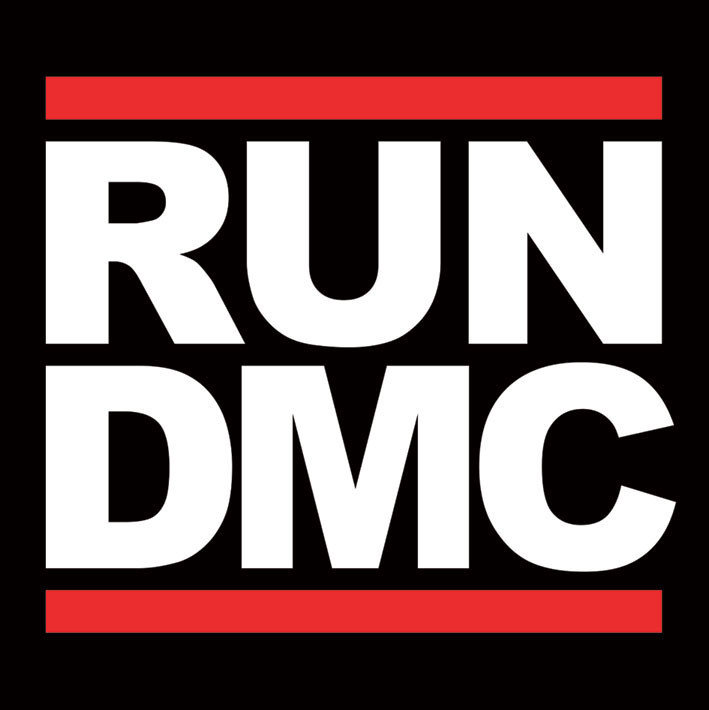 Run dmc logo sticker