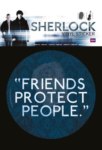 Sherlock - Friends Protect People Sticker