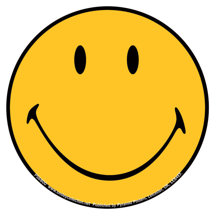 Smiley Face Sticker Sold At Ukposters