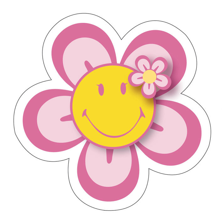 SMILEY - flower Sticker : Sold at EuroPosters