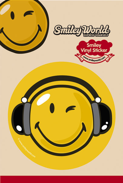 SMILEY – headphones Sticker