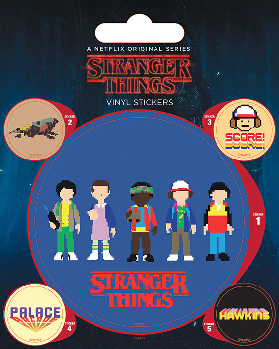 Stranger Things Arcade Sticker Sold At Abposterscom