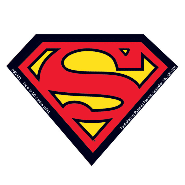 SUPERMAN logo Sticker Sold at Abposterscom