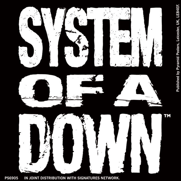 SYSTEM OF A DOWN - logo Sticker | Sold at EuroPosters Kids Movie Posters