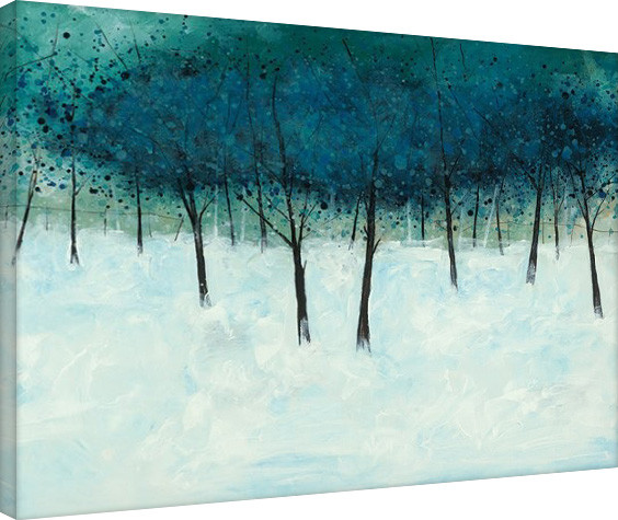 Stuart Roy - Blue Trees on White Canvas Print