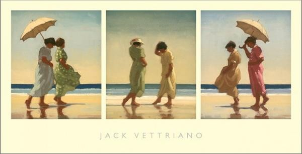Summer Days Triptych Reproduction d'art