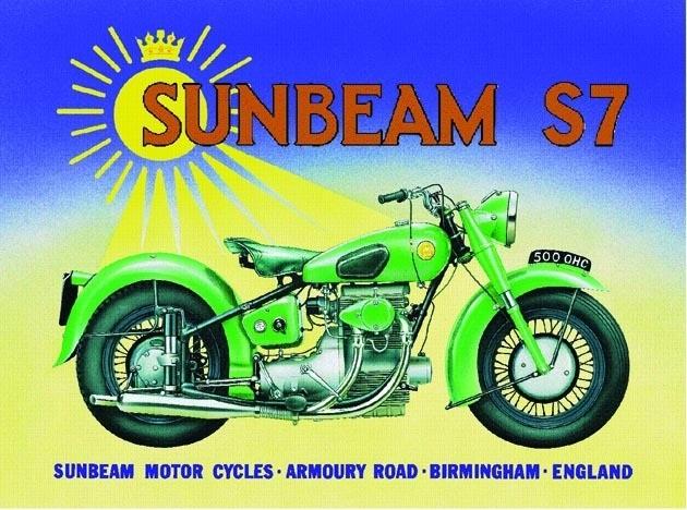 Sunbeam  Plaque métal décorée