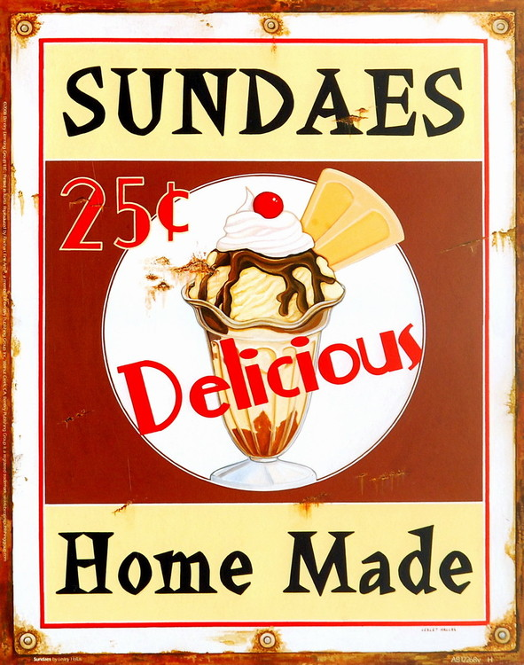 Sundaes Reproduction d'art