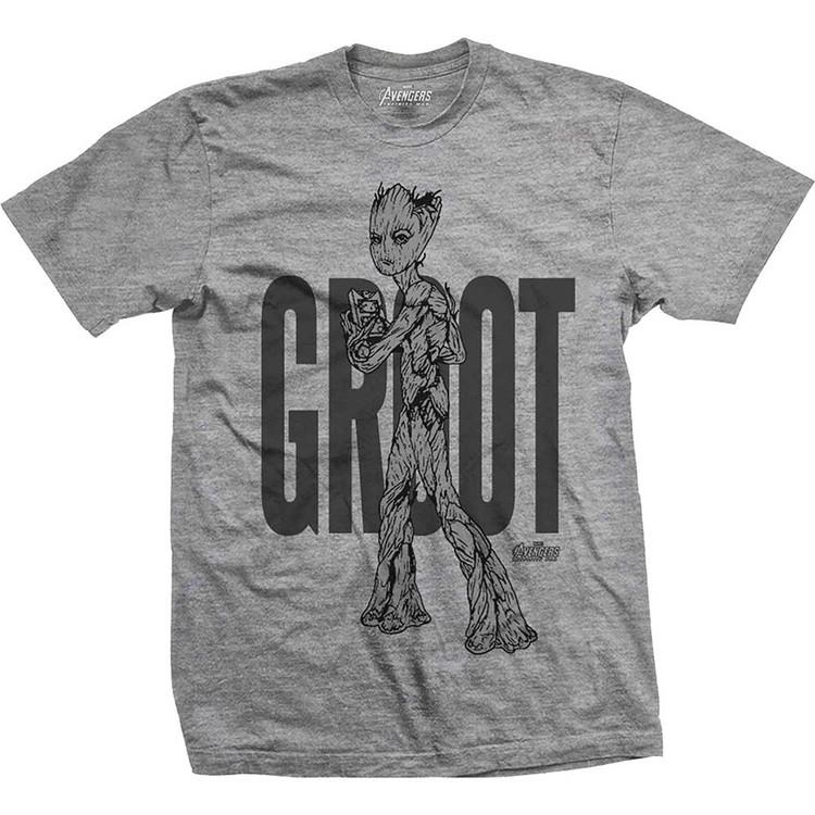 Avengers - Infinity War Teen Groot Line Art T-Shirt
