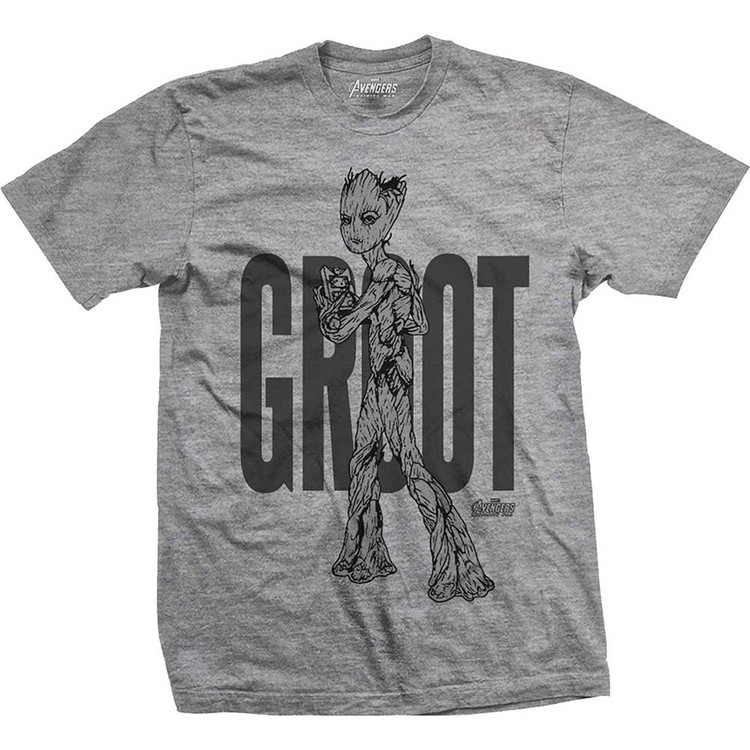 Avengers - Infinity War Teen Groot Line Art T-Shirt