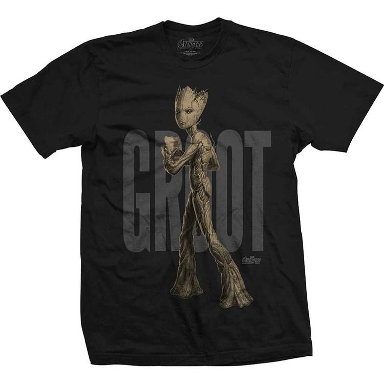 Avengers - Infinity War Teen Groot Text T-Shirt