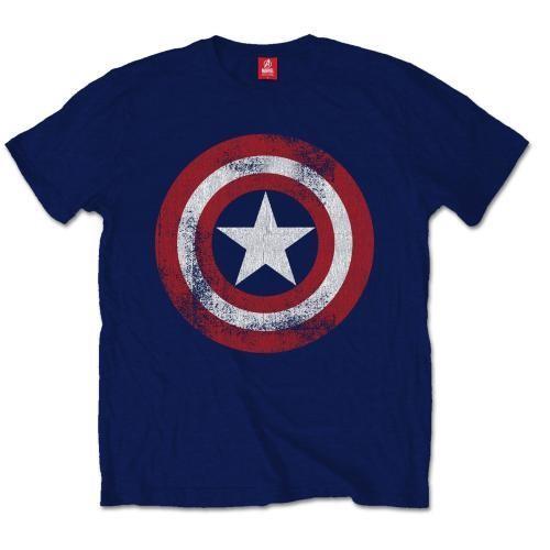 Captain America - Distress Shield T-Shirt