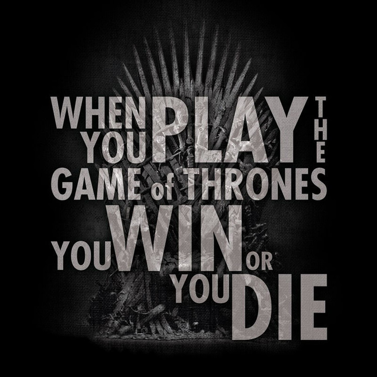 Game Of Thrones - Quote Trone T-Shirt