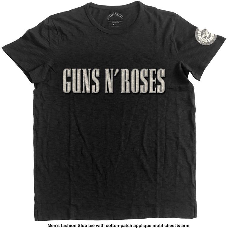 Guns N Roses - LOGO & BULLET CIRCLE T-Shirt