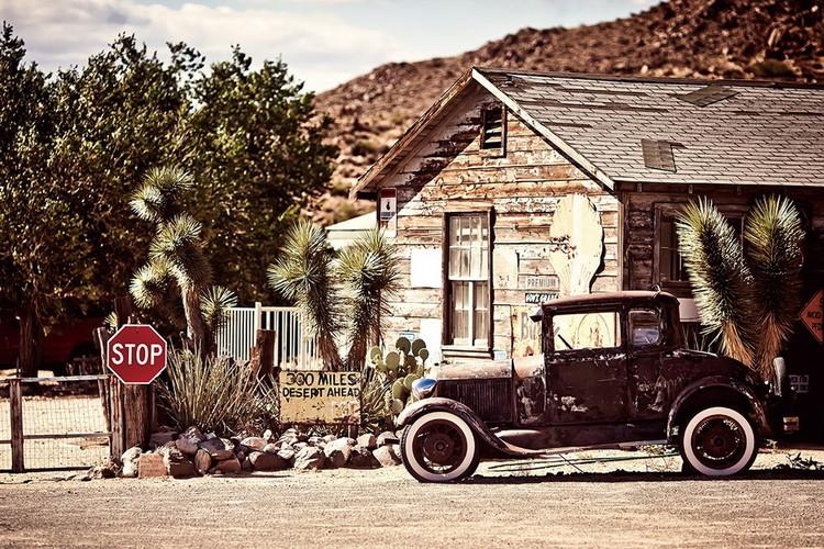 Tableau sur verre Cars - Old car
