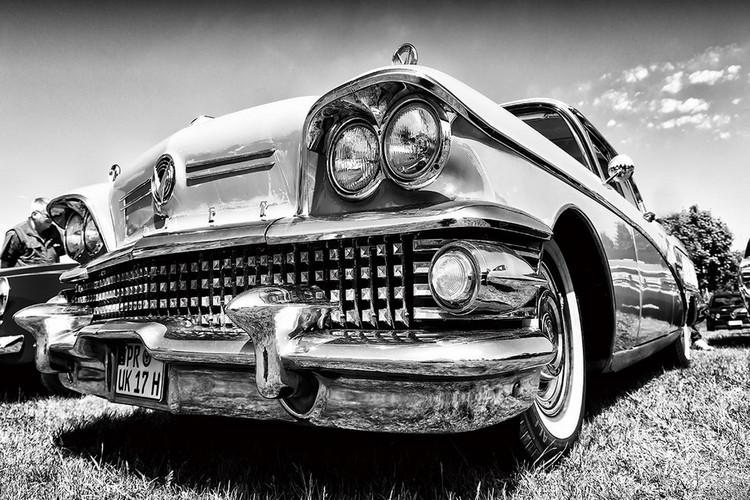 Tableau sur verre Cars - Retro Cadillac