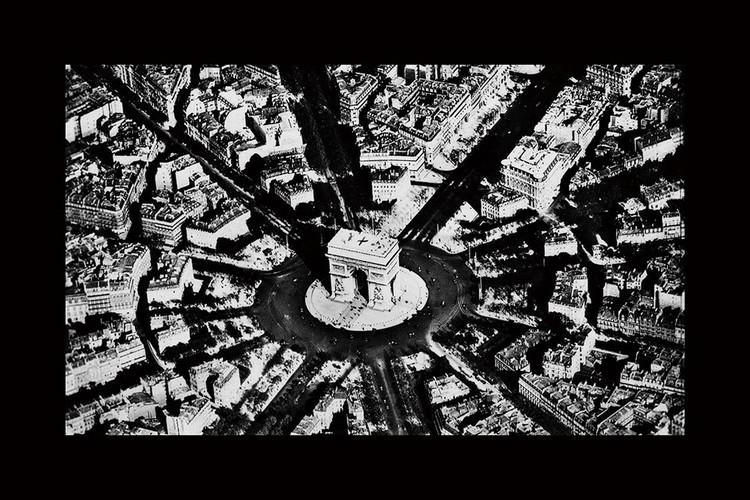 Tableau sur verre City - Black and White