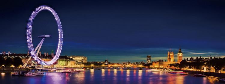 Tableau sur verre London - London Eye