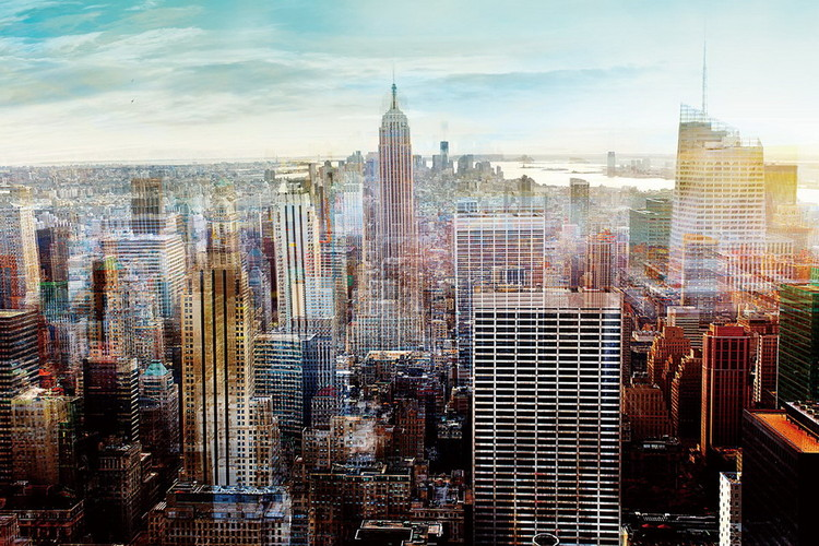 Tableau sur verre New York - View