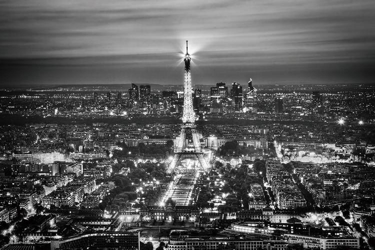 Tableau sur verre Paris - Eiffel Tower b&w