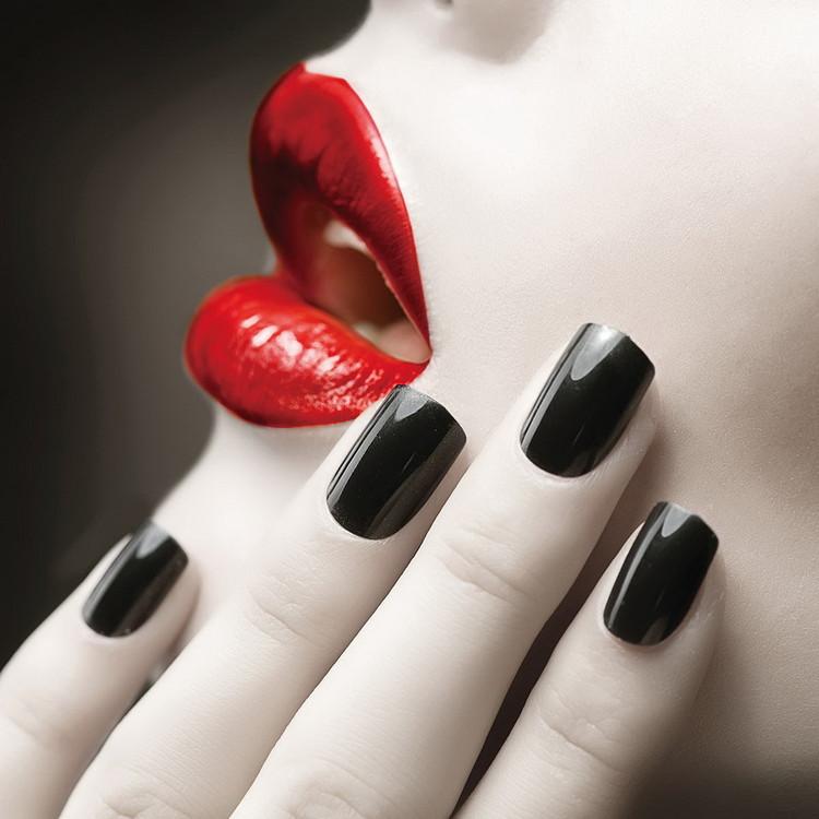 Tableau sur verre Passionate Woman - Lips