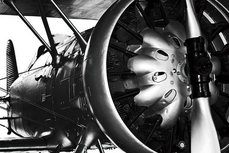 Tableau sur verre Plane - Engine