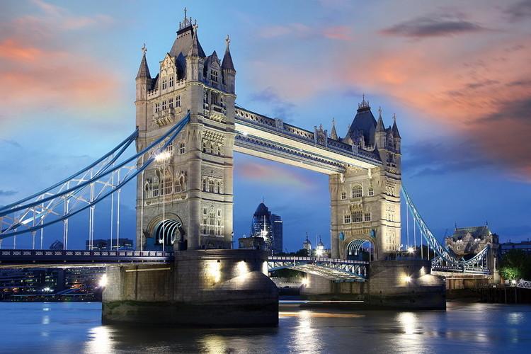 Tableau sur verre Tower Bridge, London