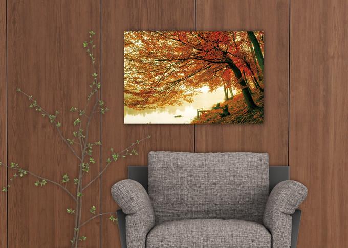 Tableau sur verre Tree - Colored Tree
