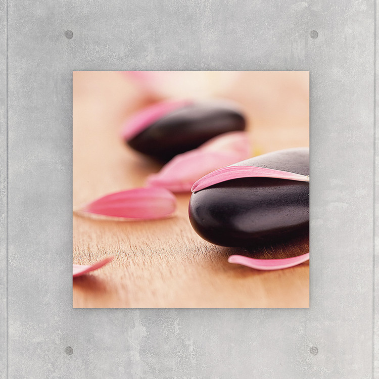 Tableau sur verre Zen - Pink