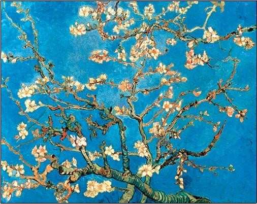 Almond Blossom - The Blossoming Almond Tree, 1890 Taidejuliste
